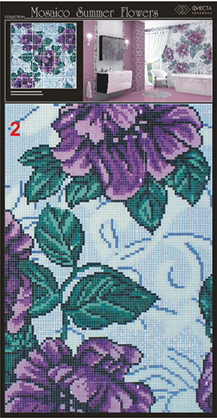 Mosaico SUMMER FLOWERS Lila 100 (2)