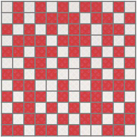 Arcobaleno Shine Mosaico White-Red 30 x 30
