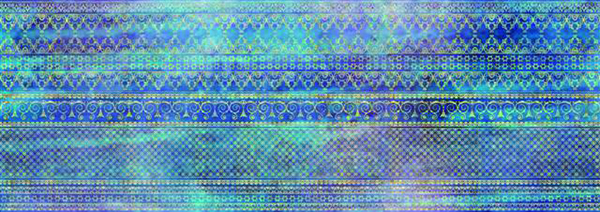 Acuarela Cotton-2 Perla-Azul Decor 24.2 x 68.5