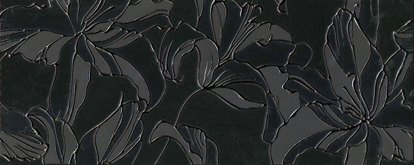 Decor Fiore Negro 20 x 50