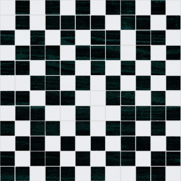 Fortune Mosaico White-Black 30 x 30
