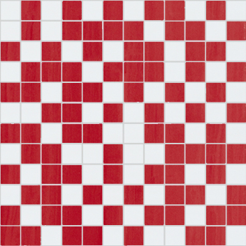 Fortune Mosaico White-Red 30 x 30
