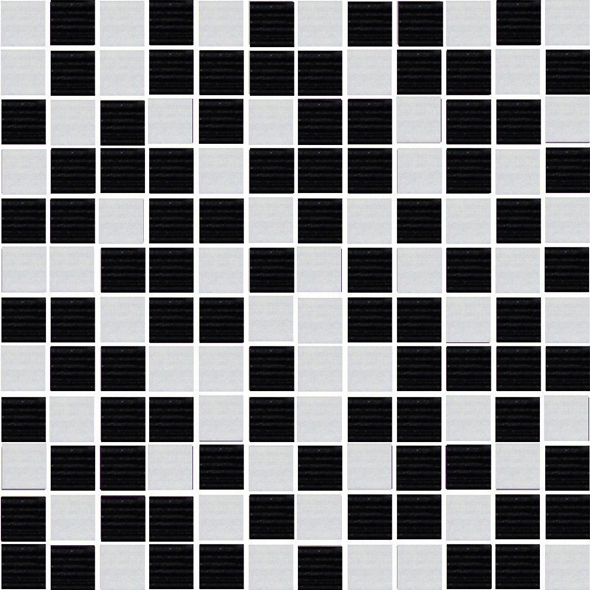 Mosaico Energy Black-Blanco 30 x 30