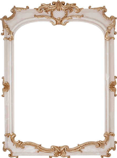 Louvre Bone Mirror 115x84
