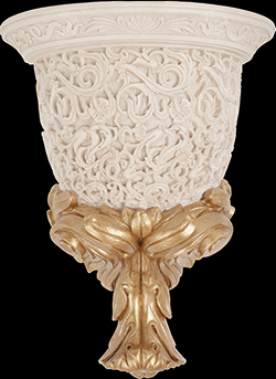 Louvre Wall Lamp Bone Decor 28 x 35,5