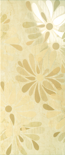 LUXURY FLOWERS BEIGE DECOR 30.5x72.5
