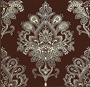 Paisley Chocolate Decor 20 x 20