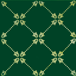 Paisley Verde Botella Net Decor 20 x 20