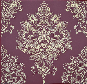 Paisley Burdeos Rojo Decor 20 x 20