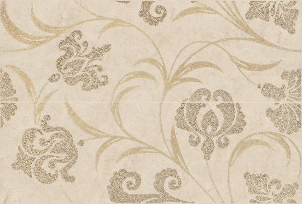 Decor Trani Indus Crema Pack-2  40 x 60