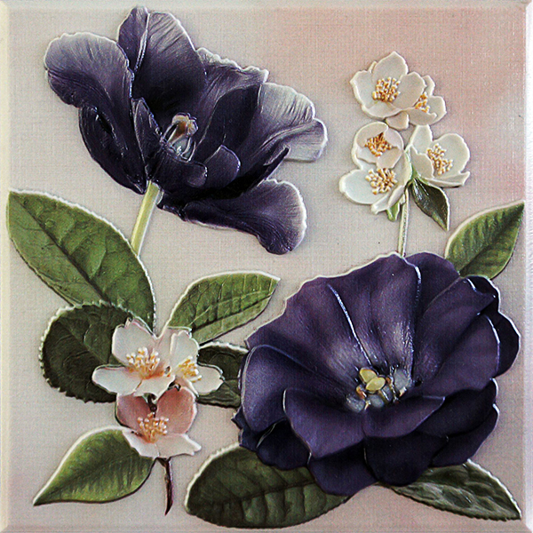 Violetta Morado Placa Decor 20 x 20